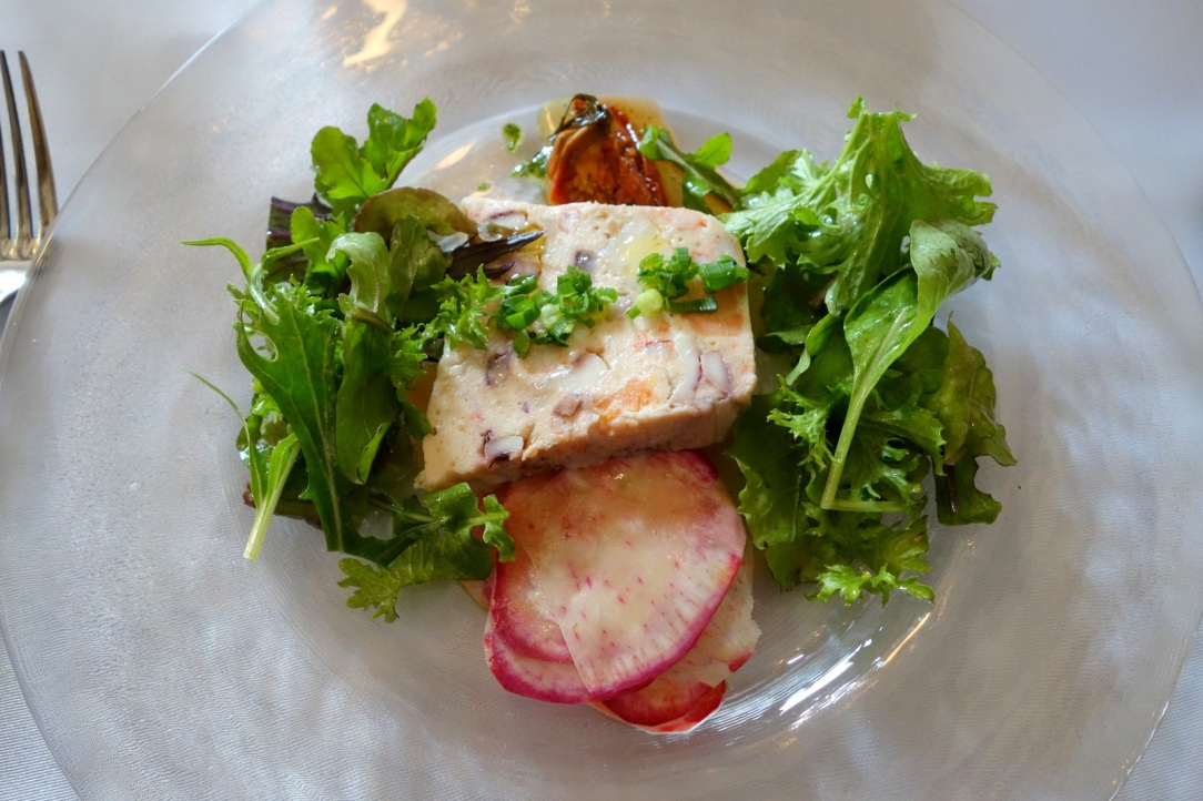 Seafood terrine with sundried tomato