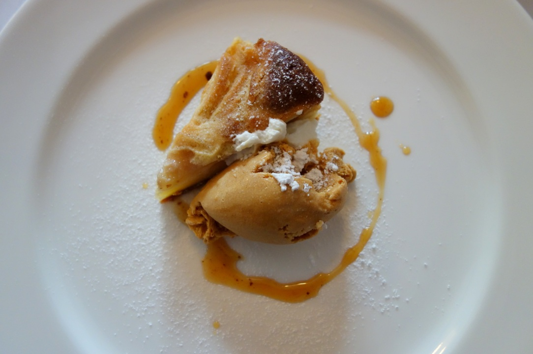 Apple tart with caramel ice cream